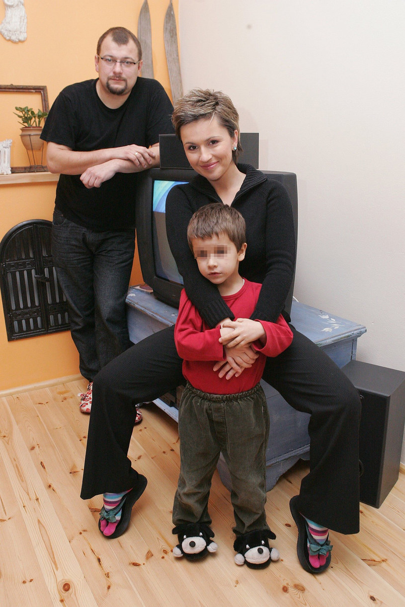 Beata Tadla z byłym mężem Radosławem Kietlińskim i synem Janem /East News