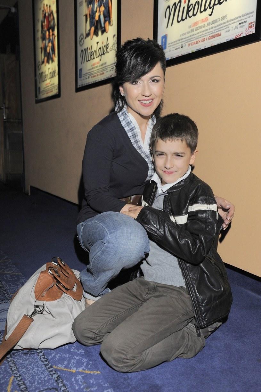Beata Tadla z synem - zdjęcie archiwalne /East News