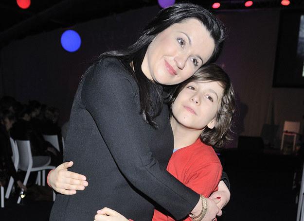 Beata Tadla z synem /J.Antoniak /MWMedia