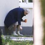 Beata Tyszkiewicz na dymku przed szpitalem. Tydzień po zawale