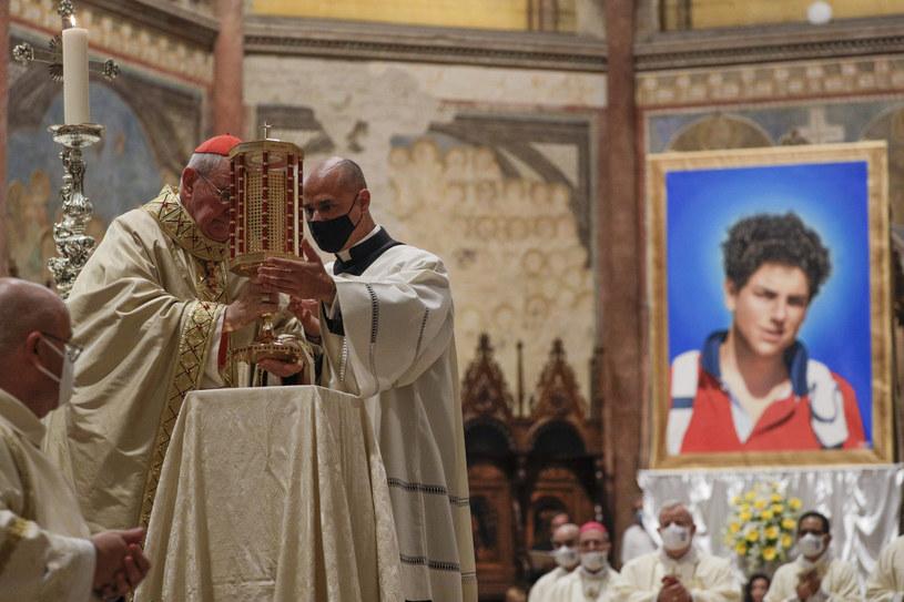Beatyfikacja zmarłego w 2006 roku w wieku 15 lat Carlo Acutisa /AP /East News