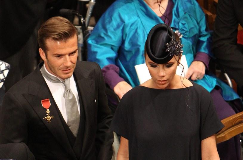Beckhamowie na ślubie Kate i Williama /Getty Images