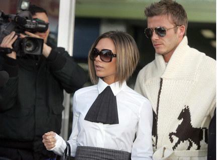 Beckhamowie - parodia samych siebie? /AFP