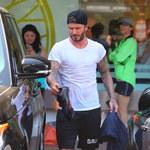 Beckhamowie zablokowali ulicę! David poszedł kupić soki!
