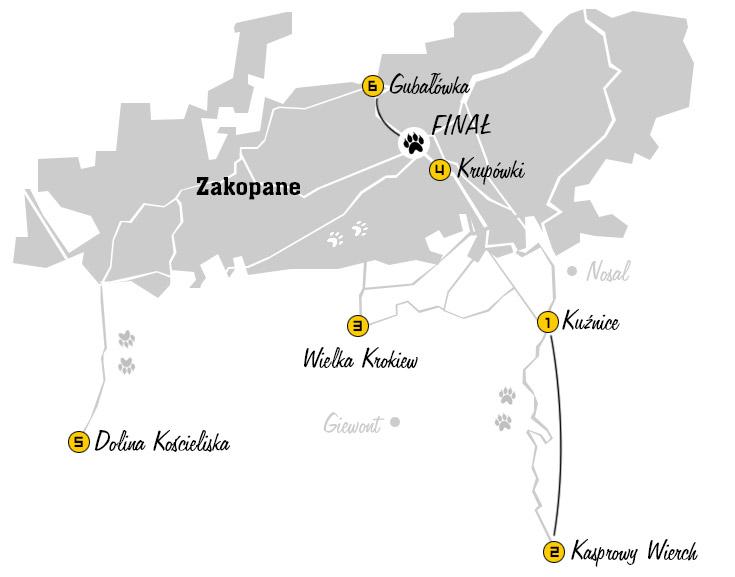 Będziecie mogli nas znaleźć w całym Zakopanem! /Grafika RMF FM /RMF FM