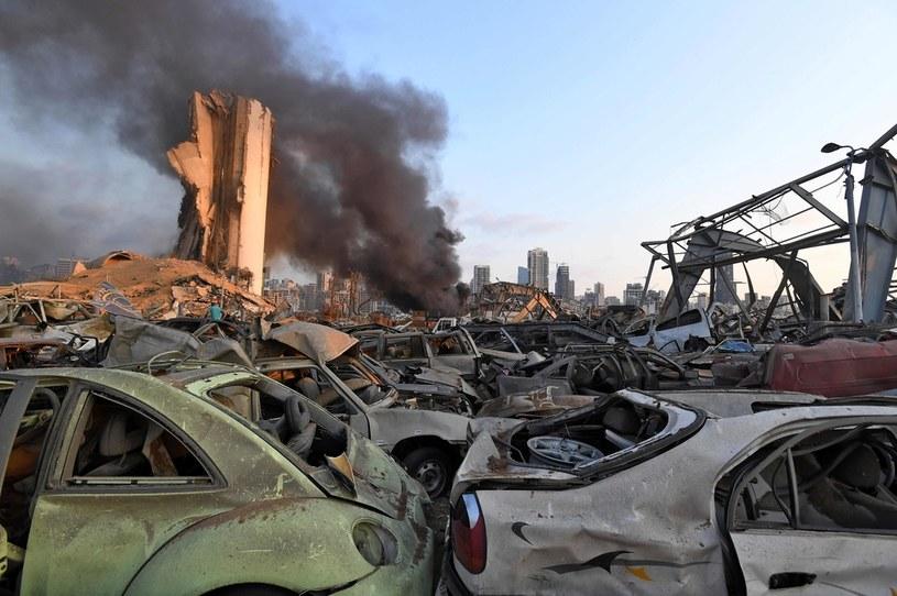 Bejrut po potężnej eksplozji /AFP