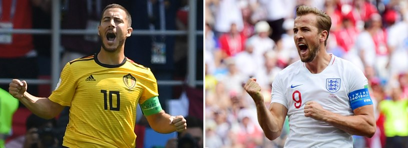 Belg Eden Hazard (z lewej) i Anglik Harry Kane /AFP