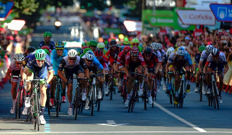 Belg Jens Keukeleire na finiszu 12. etapu /AFP