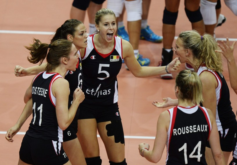 Belgijki cieszą się z awansu do półfinału /PAP/EPA