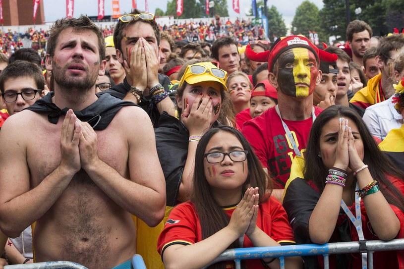 Belgijscy kibice do samego końca trzymali kciuki za swoją drużynę /PAP/EPA