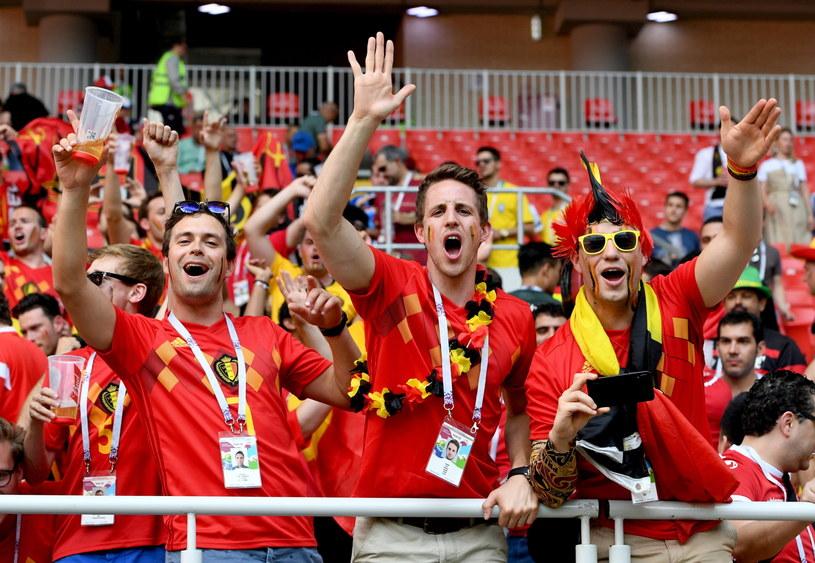 Belgijscy kibice świętują wysokie zwycięstwo /PAP/EPA