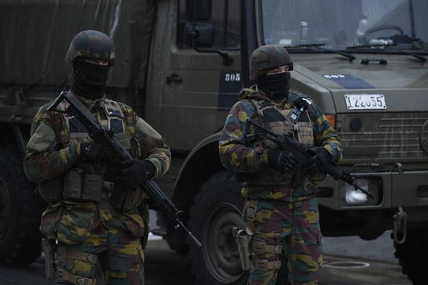Belgijscy żołnierze na ulicach Brukseli /AFP