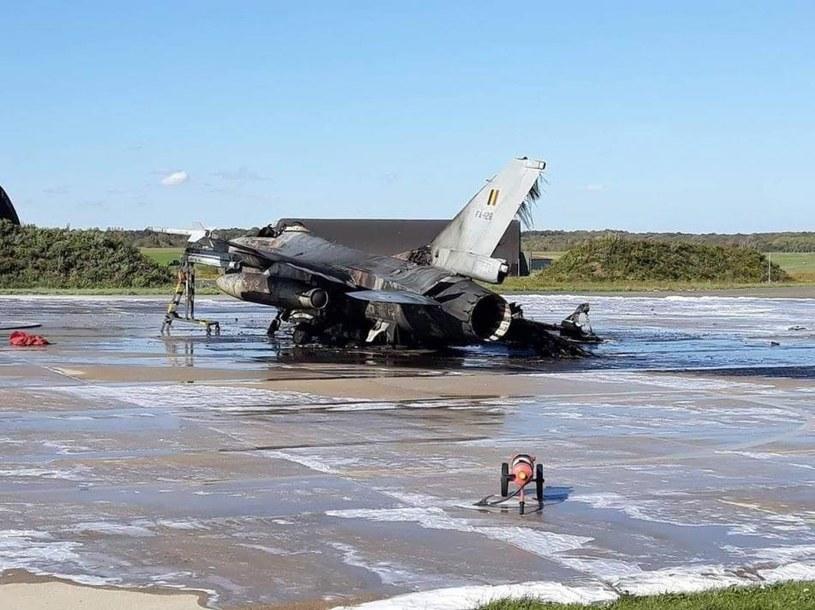 Belgijski F-16 zniszczony w wyniku wypadku /domena publiczna