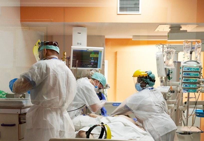 Belgijski szpital w czasie epidemii koronawirusa /Vincent Duterne / Photonews  /Getty Images