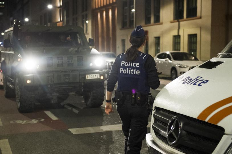 Belgijskie służby w pobliżu miejsca ataku /AFP