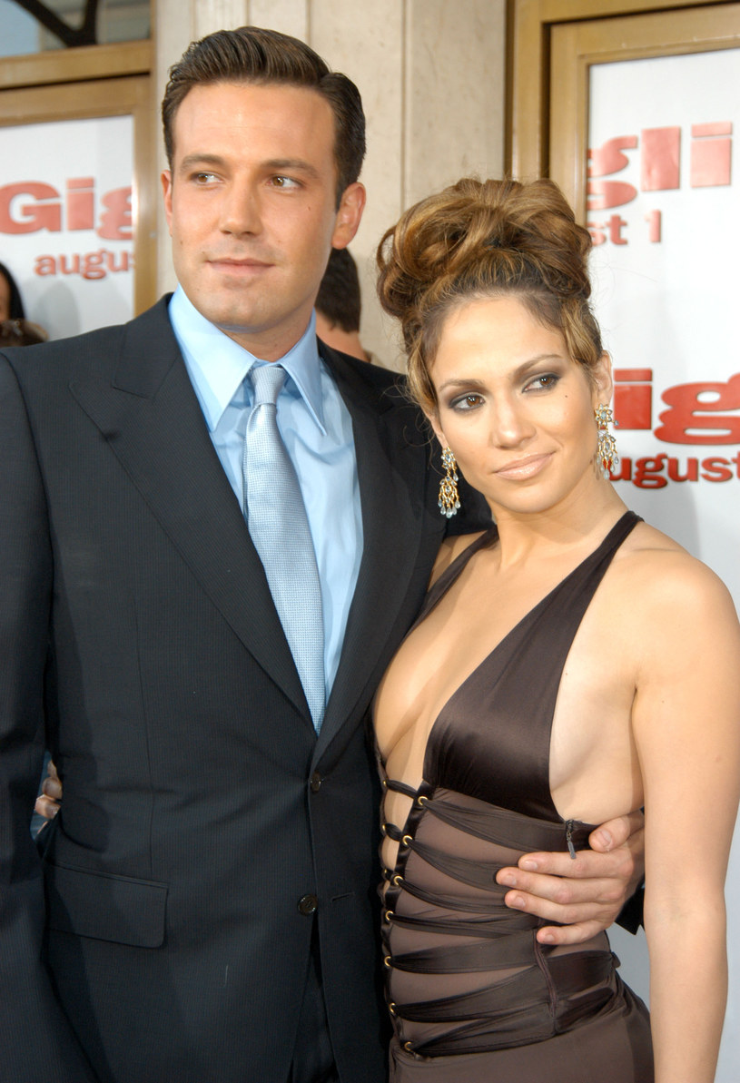 Ben Affleck i Jennifer Lopez, 2003 rok /Jeff Kravitz /Getty Images
