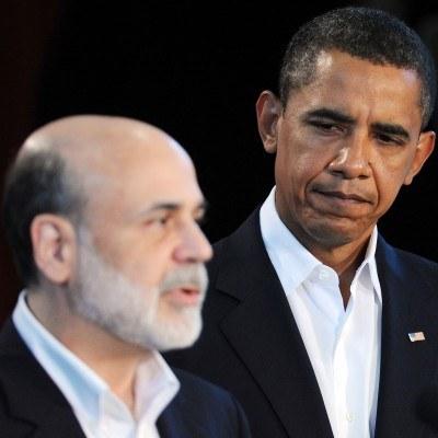 Ben Bernanke (z lewej) i prezydent USA Barack Obama /AFP