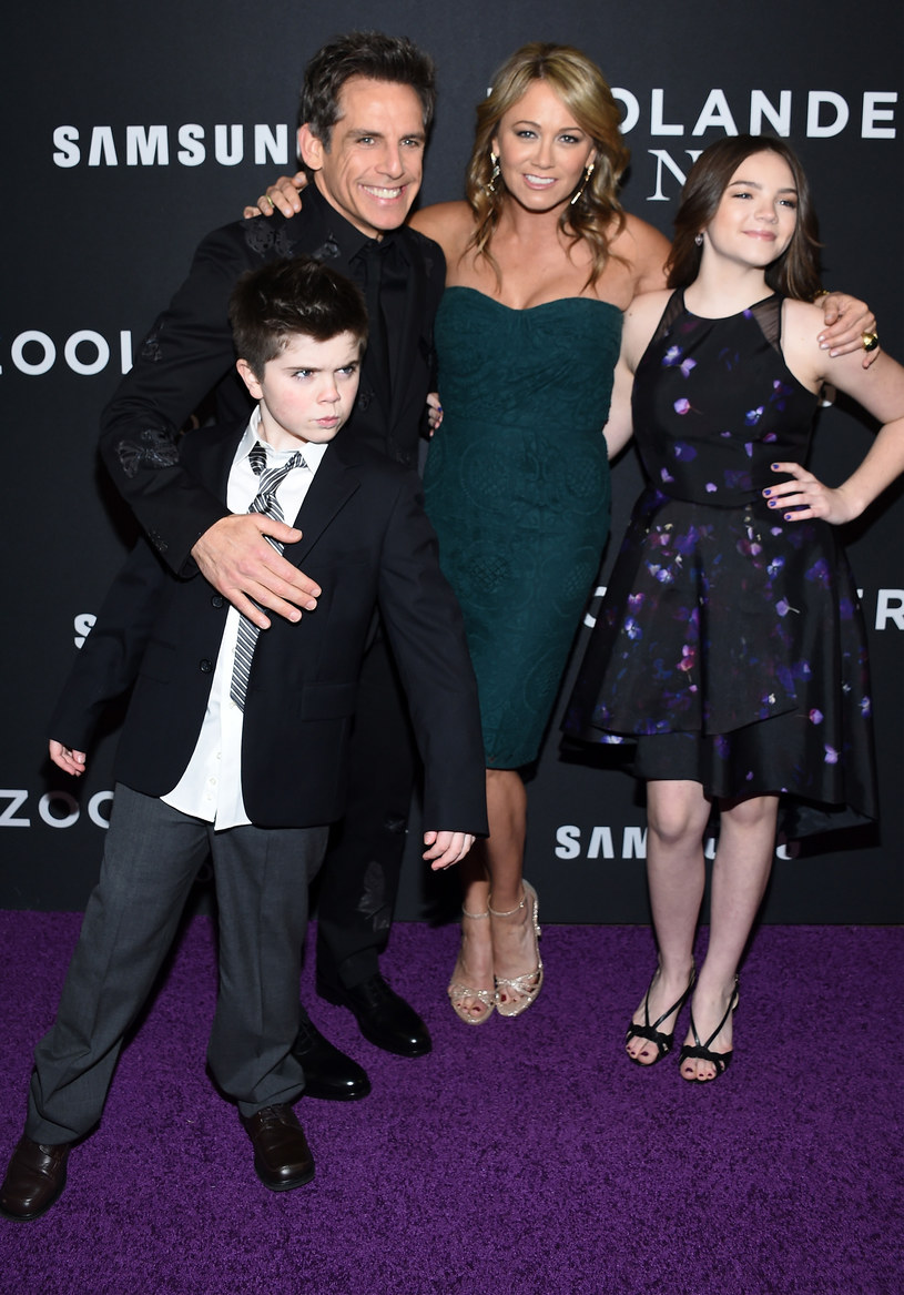 Ben Stiller i Christine Taylor z dziećmi /Dimitrios Kambouris / Staff /Getty Images