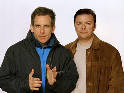 "Ben Stiller i reżyser ""Statystów"" Ricky Gervais - fot. HBO /"