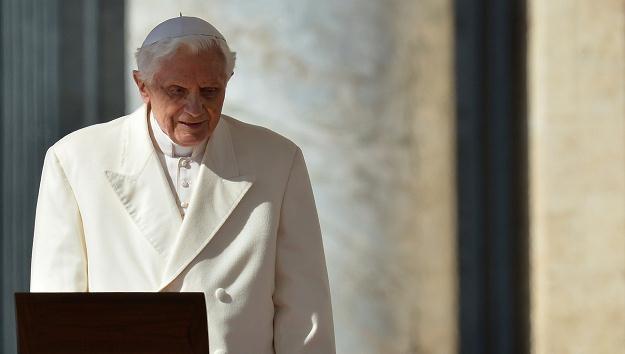 Benedykt XVI na ostatniej audiencji generalnej /AFP