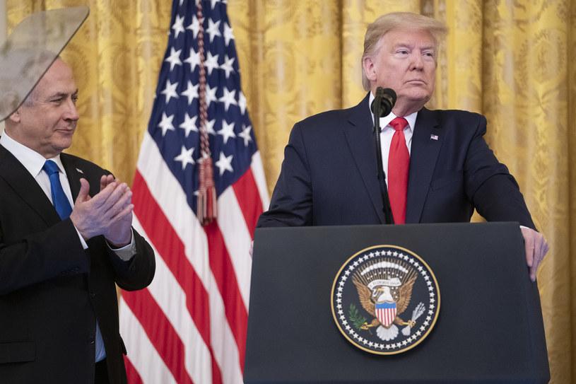 Beniamin Netanjahu i Donald Trump /SHEALAH CRAIGHEAD /Agencja FORUM