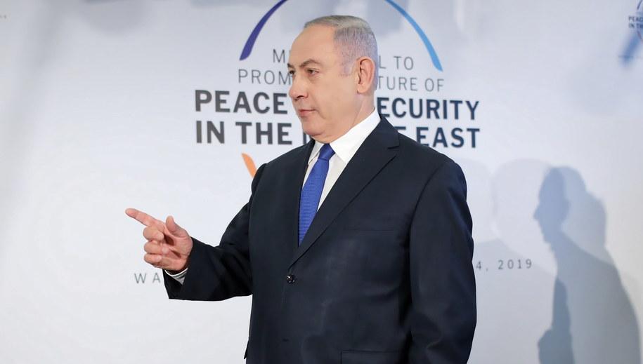 Beniamin Netanjahu /Leszek Szymański /PAP