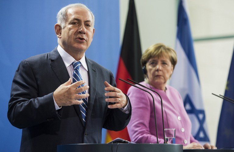 Benjamin Netanjahu i Angela Merkel /AFP