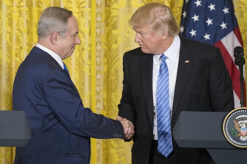 Benjamin Netanjahu i Donald Trump /PAP/EPA