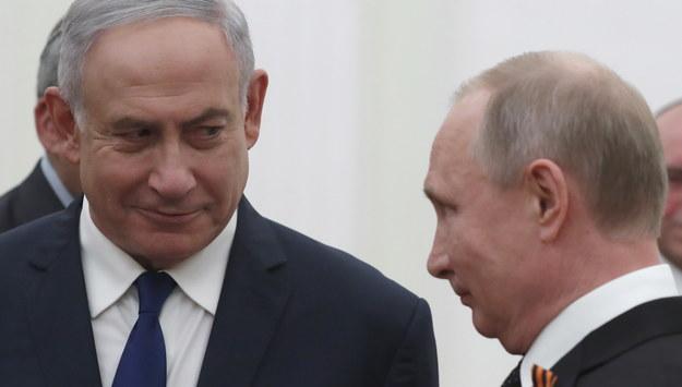 Benjamin Netanjahu i Władimir Putin /Sergei Ilnitsky /PAP/EPA