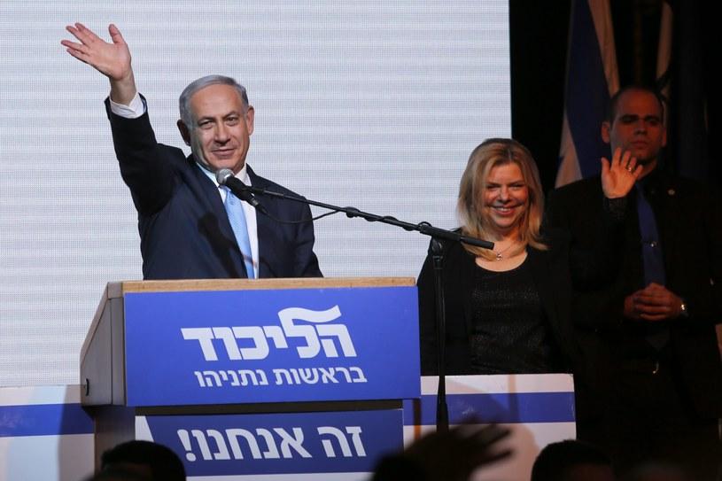 Benjamin Netanjahu świętuje zwycięstwo /PAP/EPA