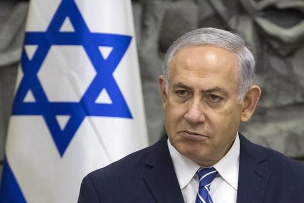 Benjamin Netanjahu /JIM HOLLANDER    /PAP/EPA