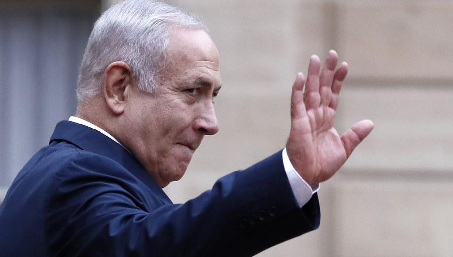 Benjamin Netanjahu /ETIENNE LAURENT /PAP/EPA