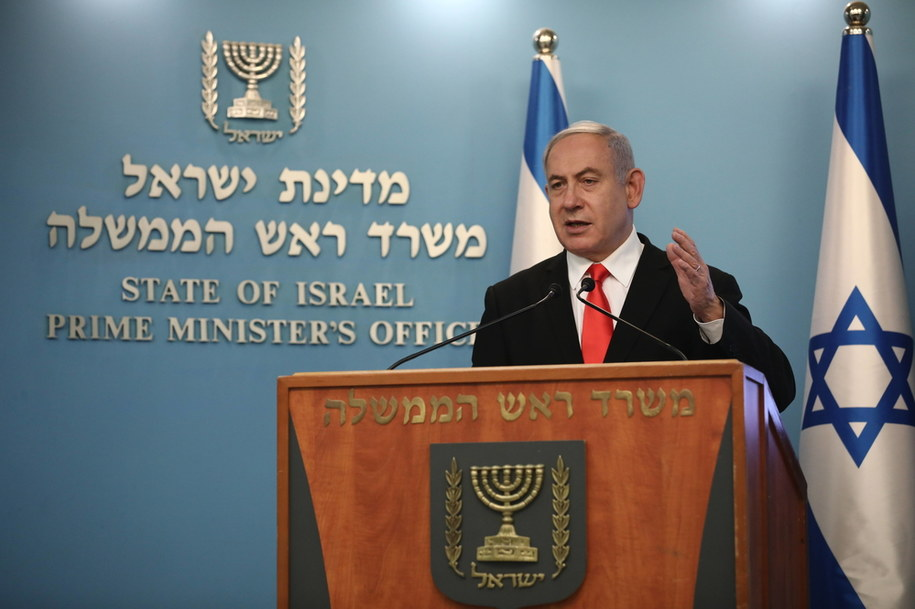 Benjamin Netanjahu /Yonatan Sindel / POOL /PAP/EPA