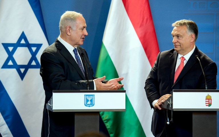 Benjamin Netanyahu i Viktor Orban /AFP