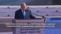 Benjamin Netanyahu o odpowiedzi na agresję Iranu