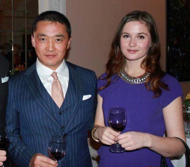 Benjamin Wey i Hanna Bouveng na przyjęciu w 2014 r. /facebook.com