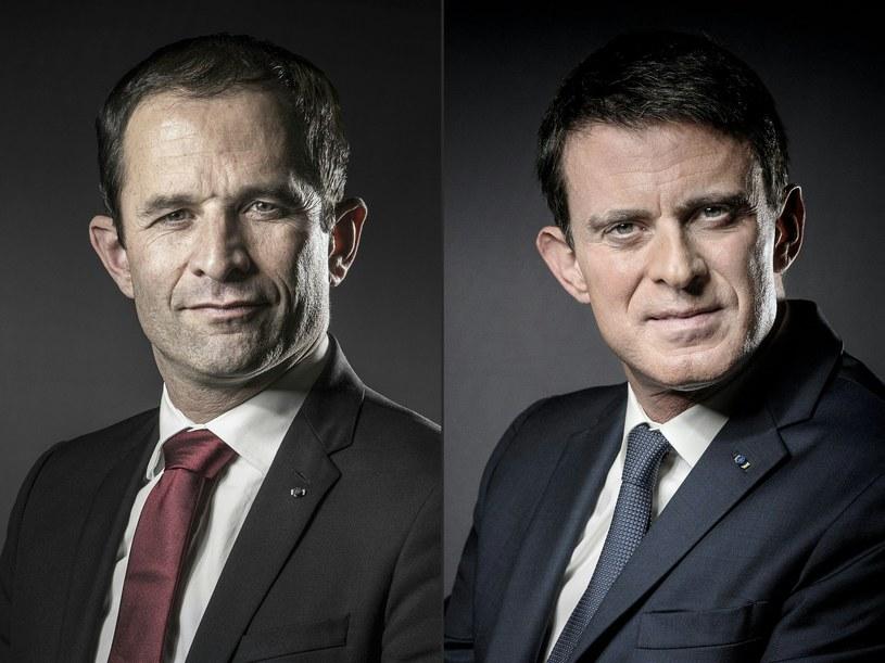 Benoit Hamon i Manuel Valls w drugiej turze prawyborów /JOEL SAGET /AFP
