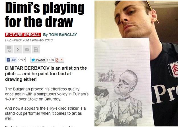 Berbatow ma talent nie tylko do strzelania bramek /The Sun