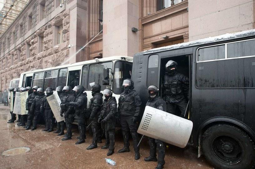 Berkutowcy w Kijowie /AFP