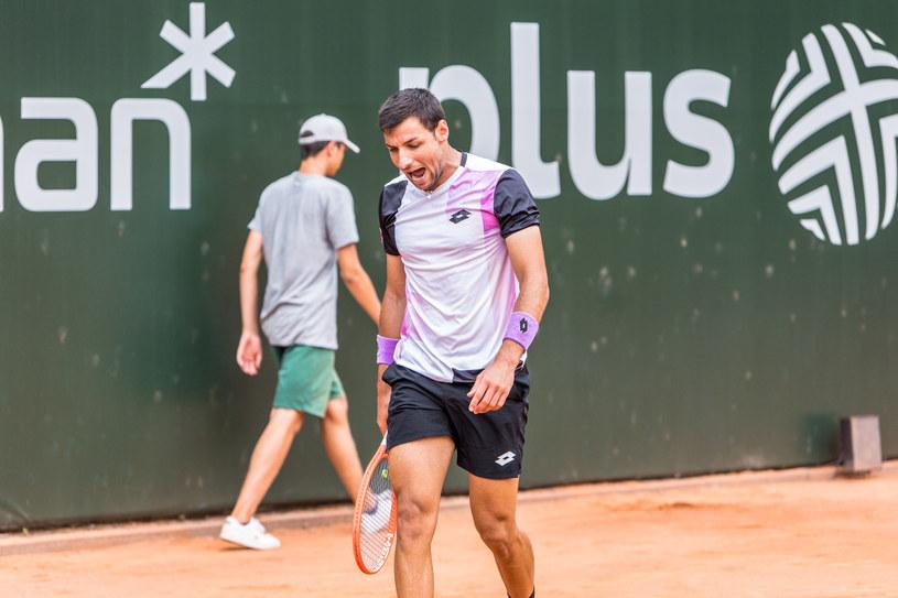 Bernabe Zapata Miralles kontra Mats Moraing. Poznań Open (fo. Paweł Rychter) /Interia.pl /INTERIA.PL