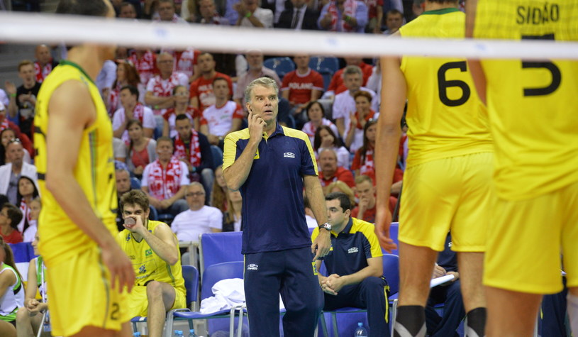 Bernardo Rezende nie wie, co się dzieje z jego drużyną /Jacek Bednarczyk /PAP