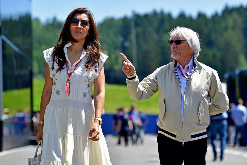 Bernie Ecclestone z żoną Fabianą Flosi /AFP