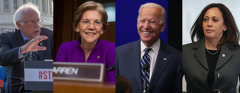 Bernie Sanders, Elizabeth Warren, Joe Biden, Kamala Harris /AFP