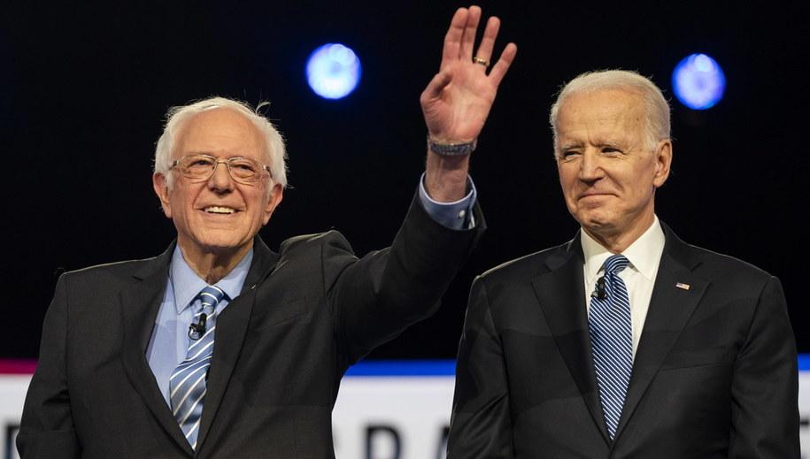 Bernie Sanders i Joe Biden /JIM LO SCALZO /PAP/EPA
