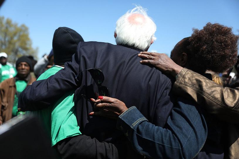 Bernie Sanders w 50. rocznicę zabójstwa Martina Luthera Kinga /AFP