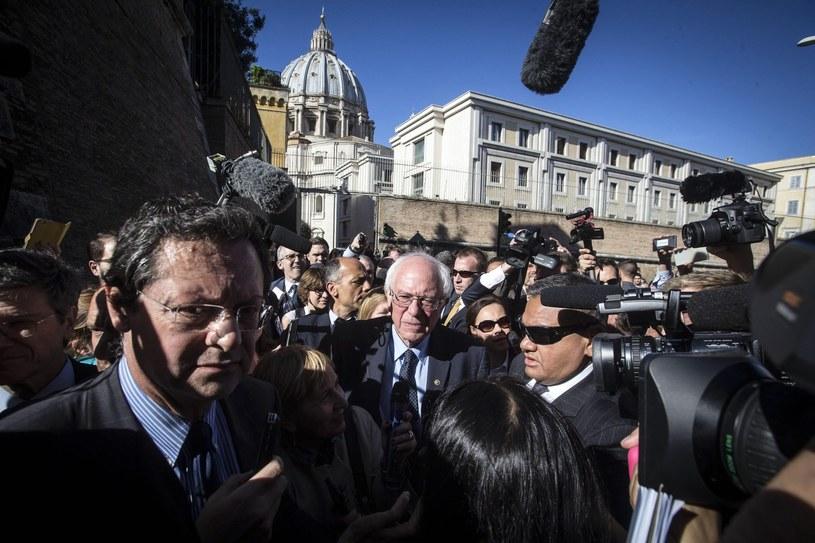 Bernie Sanders w Watykanie /EPA/ANGELO CARCONI /PAP/EPA