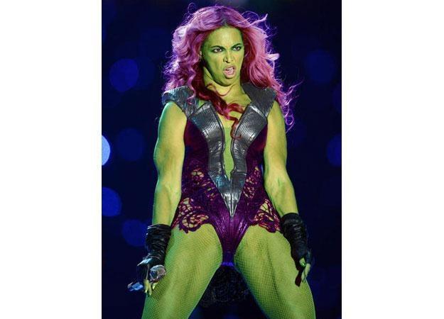 Beyonce jako Kobieta Hulk /