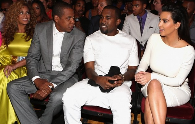 Beyonce, Jay-Z, Kanye West i Kim Kardashian /- /Getty Images