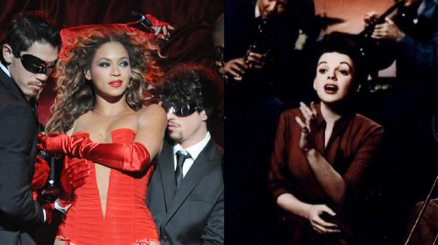 Beyonce Knowles (L) i gwiazda filmu z 1954 roku - Judy Garland (P) /Getty Images/Flash Press Media