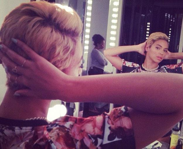 Beyonce w nowej fryzurze /